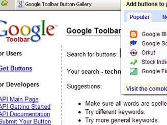 Google Toolbar 5 beta