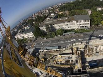 Pohled z výšky - stanice CHUV