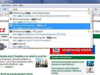 Firefox - víceúčelový adresní řádek