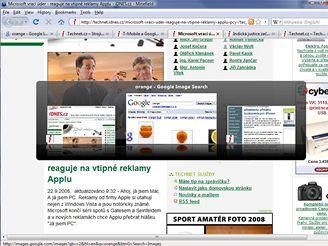 Firefox - nové přepínání mezi panely (v Minefield)