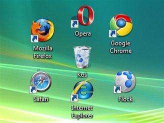 Prohlížeče a koš