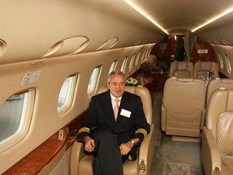 Osobní tryskáče: Embraer Legacy 135BJ interiér