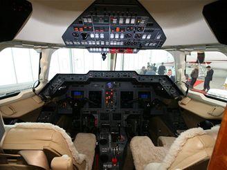 Osobní tryskáče: Hawker H900XP kokpit