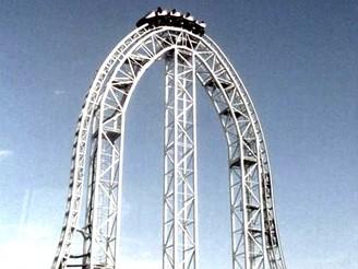 Horská dráha Dodonpa v zábavním parku Fujikyu Highland v Japonsku