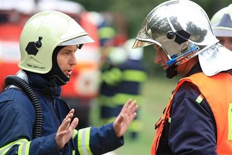 Mezinárodní cvičení hasičů v Břeclavi