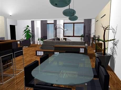 Proměna obývacího pokoje a kuchyňského koutu