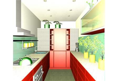 Malá paneláková kuchyně