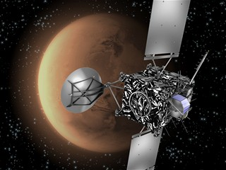 Rosetta uskutečnila gravitační manévr u Marsu
