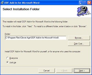 ODF Add-in for Microsoft Word