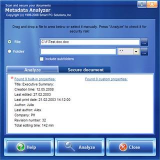 Metada Analyzer