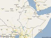 Mapa východní Afriky