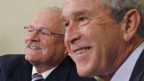 George Bush a Ivan Gašparovič.