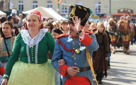 Burčákové slavnosti v Hustopečích, sobotní průvod