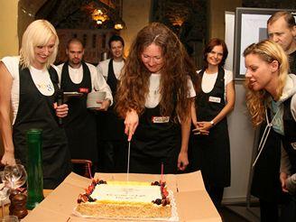 Krájení dortu Google