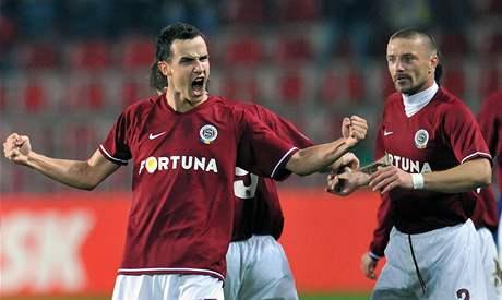 Sparta: Jiří Kladrubský oslavuje gól