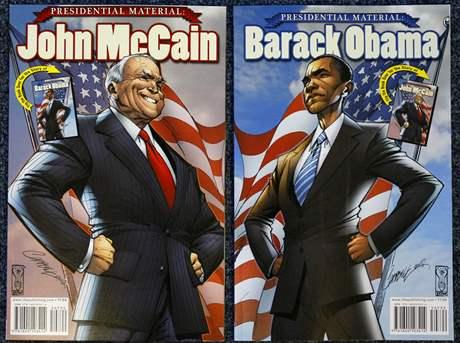 Američané si mohou o prezidentských kandidátech přečíst i v komiksu.