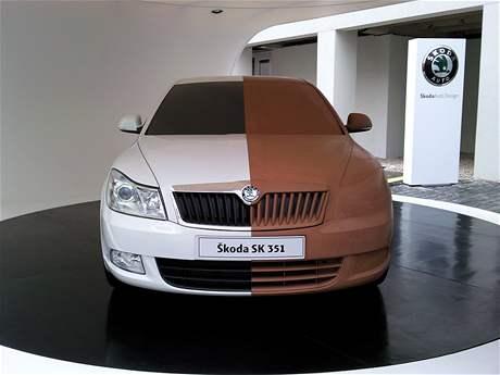 Hliněný model faceliftované Škody Octavia