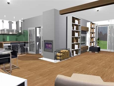 Rekonstrukce obývací kuchyně a šatny