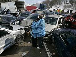 Czech Press Photo 2008 - hromadná havárie na dálnici D1