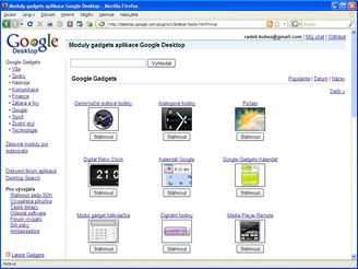 Google Desktop gadgets