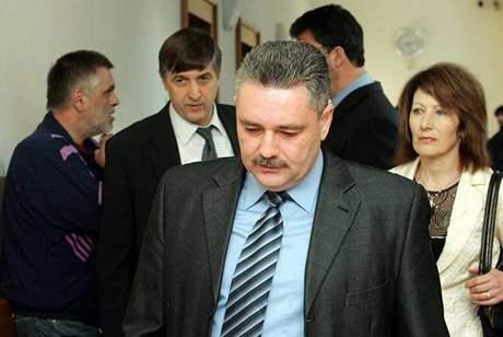 Vladislav Větrovec u soudu v Mělníku