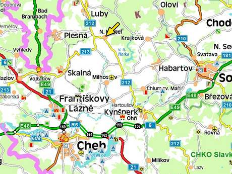 Nový Kostel na Chebsku - mapa