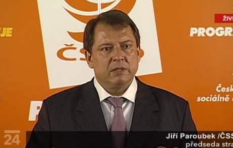 Ji�í Paroubek na tiskové konferenci