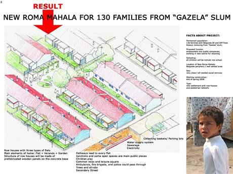 Přestavba romského slumu