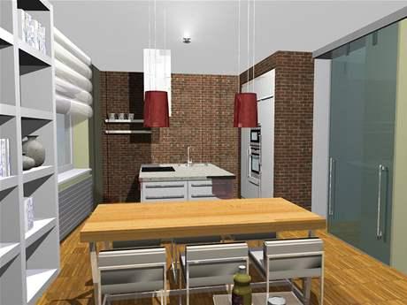 Proměna obývací kuchyně, koupelny a předsíně