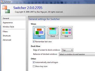 Switcher - Nastavení