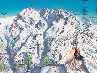 Zermatt, Matterhorn - mapka