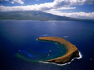USA, Havaj, mořský park Molokini Crater