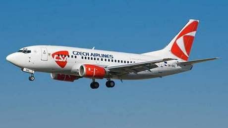 Letadlo ČSA se kvůli poruše muselo vrátit zpět na letiště. Ilustrační foto.