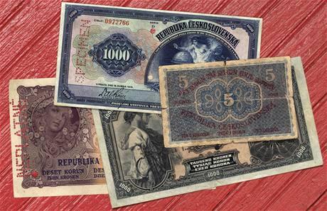 Historické �eské bankovky