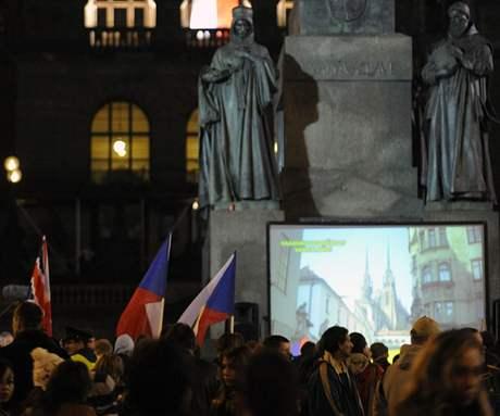 Demonstrace Národní strany na Václavském náměstí 28. 10. 2008
