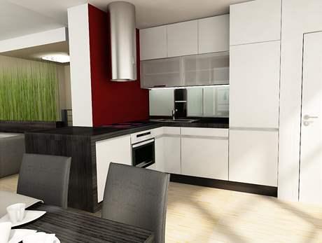 Nově navržená kuchyňská část