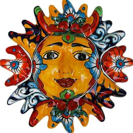 Maska v podobě slunce