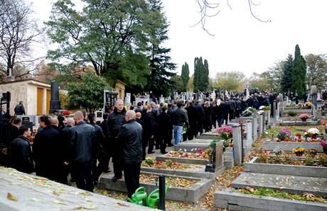 Pohřeb Václava Kočky mladšího.