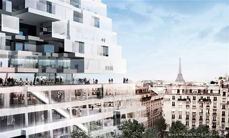 Paříž: mrakodrap ve tvaru pyramidy