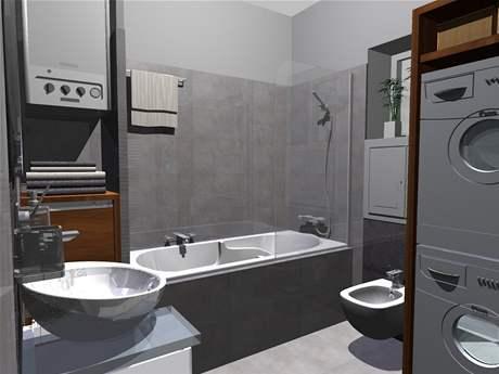 Rekonstrukce koupelny: druhá varianta