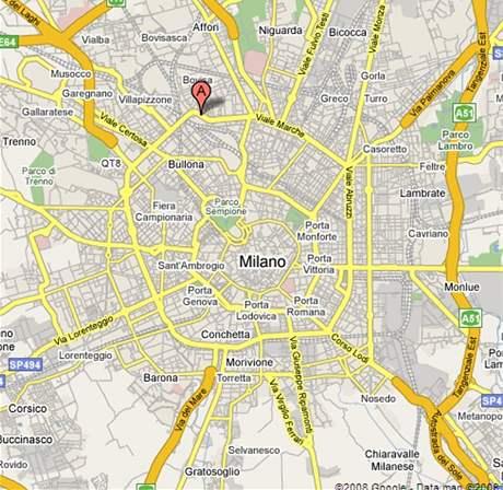Mapa Milána