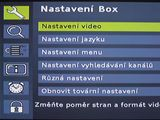 Set-top box Philips - hlavní menu