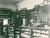 Lékárna v Táborské ulici v Brně ve 40. a 50. letech minulého století