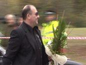 Michal David na pohřbu