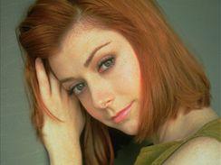 Alyson Hanniganová jako Willow v seriálu Buffy, přemožitelka upírů