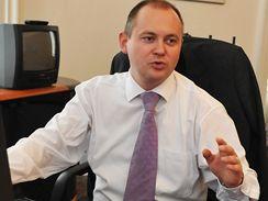 Lídr jihomoravské ČSSD Michal Hašek při on-line rozhovoru