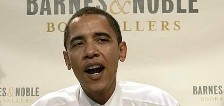 Barack Obama v říjnu 2006, kdy vydal svou druhou knihu