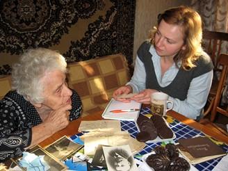 Božena Žikešová při rozhovoru v Jekatěrinburku