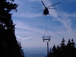 Výstavba lanovky na Černou horu, 2006