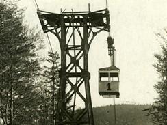 Lanovka na Černou horu, rok 1928